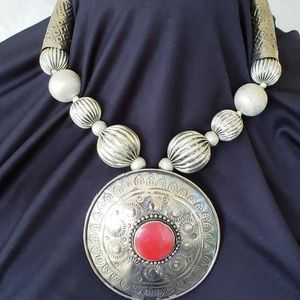 VINTAGE NECKLACE NATIVE AMERICAN Sterling Silver